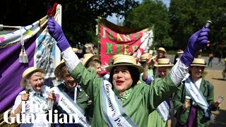Women march across UK to celebrate centenary of female suffrage