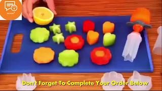 Vegetable Fruit Shape Pop Cutter : Creative Kitchen Cooking Accessories Plastic Flower