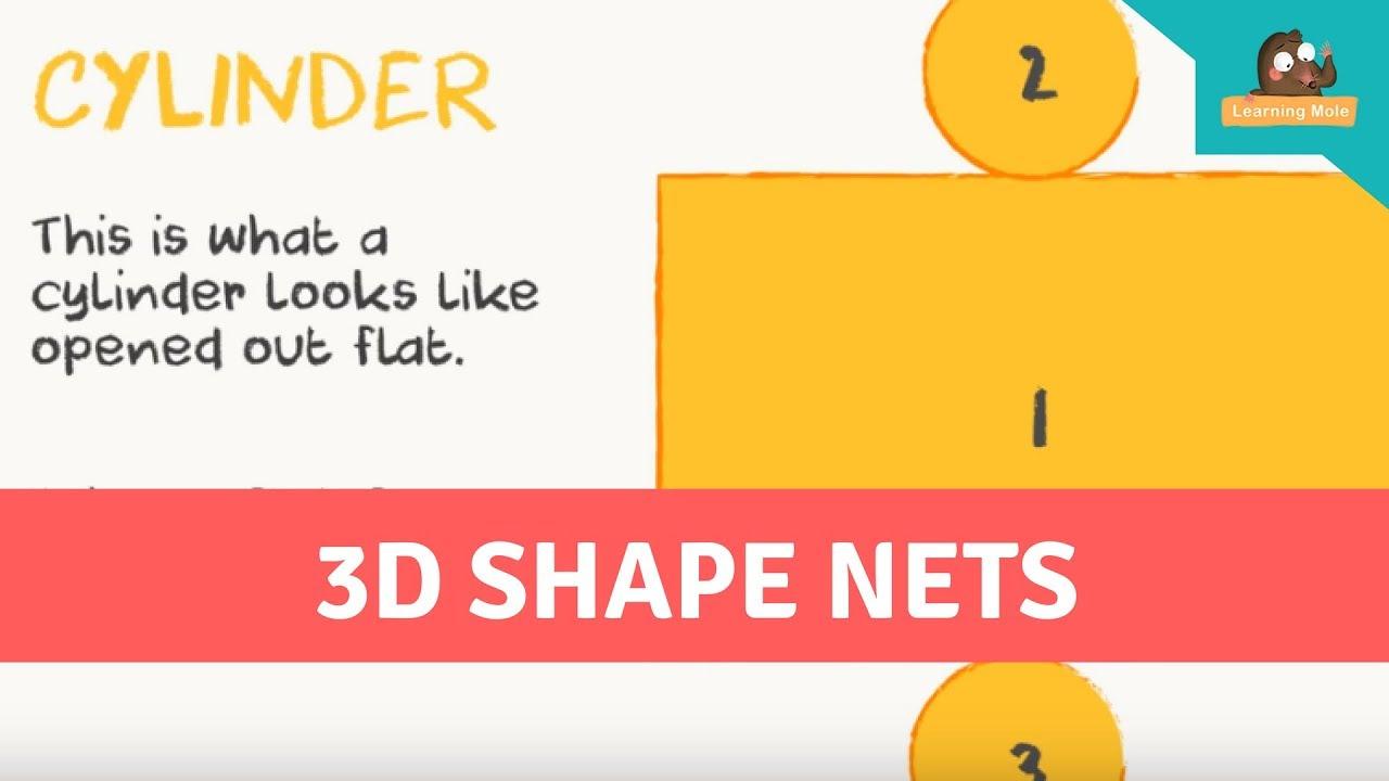 3D Shape Nets for Kids - 3D Shapes for kids - Geometric Nets - YouTube [ 720 x 1280 Pixel ]