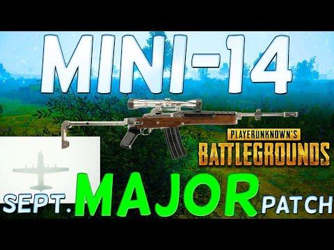PLAYER UNKNOWN'S BATTLEGROUNDS MINI 14 - The NEW SEPTEMBER UPDATE! BATTLEGROUNDS MINI-14! PUBG PATCH