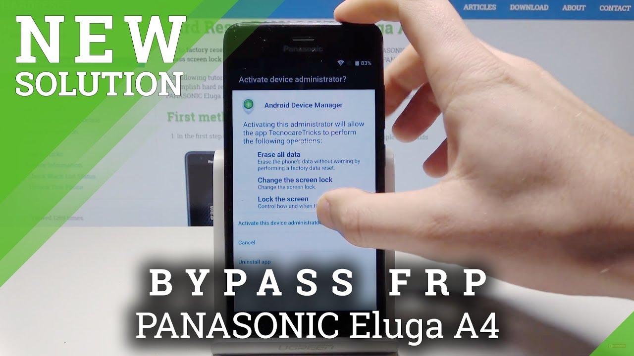 How to Bypass Google Verification on PANASONIC Eluga A4 - Unlock FRP / Skip  Google Account