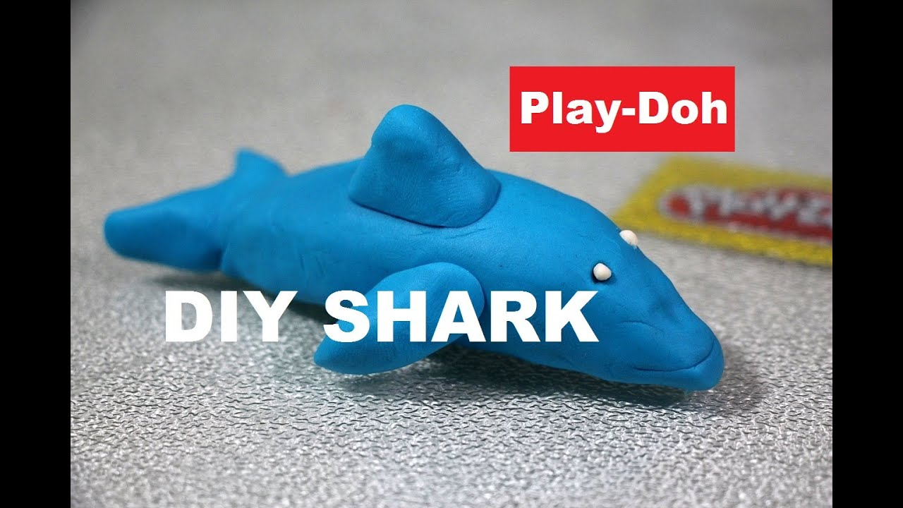 how to make a play doh shark