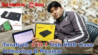 My New Terabyte 2 in 1 usb HDD Case Unboxing & Review