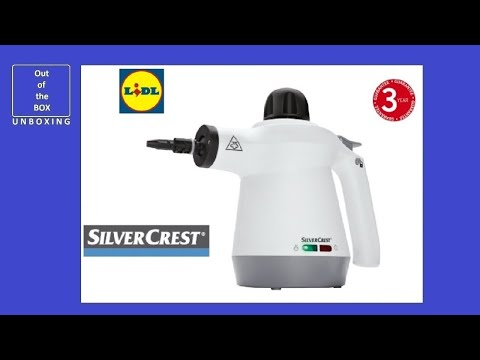 SilverCrest Handheld Steam Cleaner SDR 1100 B2 UNBOXING (Lidl 250-350ml 3 bar 950 – 1100 W)