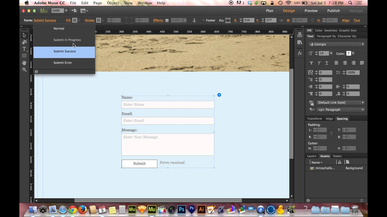 adobe muse how to add video