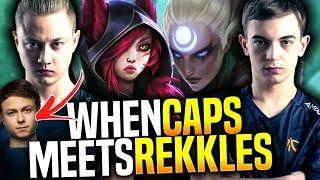 CAPS Claps JENSEN & REKKLES in KOREA SoloQ! - FNC Caps Picks Diana Mid vs Rekkles! | Be Challenger
