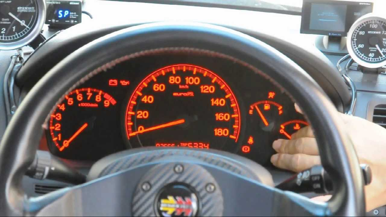 Honda アコード メーター動作確認 Accord Cl7 Euro R Youtube
