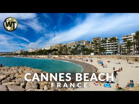 Cannes Beach Promenade La Croisette - 🇫🇷 France - 4K Virtual Tour