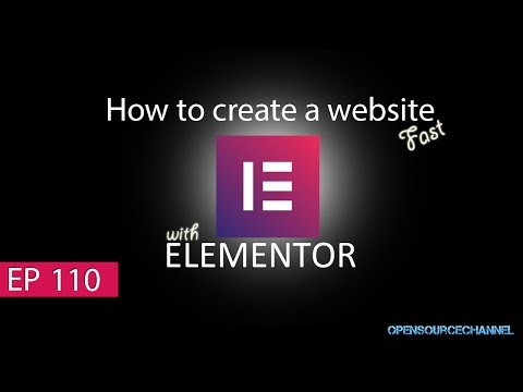 Get a free website in no time. Design a Web Site with Elementor and Wordpress for free