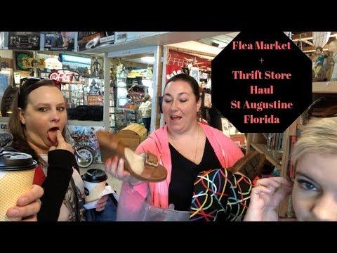 Thrifting Trip St Augustine Florida. Flea Market + Thrift Store Haul