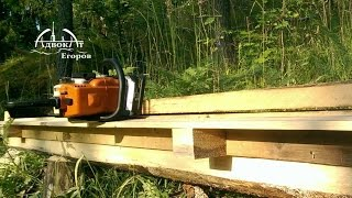Sawmill chainsaw from the two boards and screws Homemade Chainsaw Milling