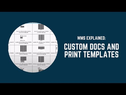 WMS Explained: Custom document designer and print template rules