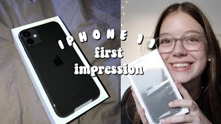 IPHONE 11 FIRST IMPRESSION + Unboxing, Einrichten usw. | Hannah Theresa