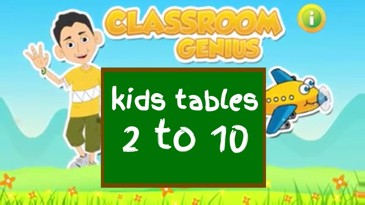 Kids math tables up to 10 classroom genius learn multiplication kids math tables up to 10 classroom genius learn multiplication tables with fun gamestrikefo Images