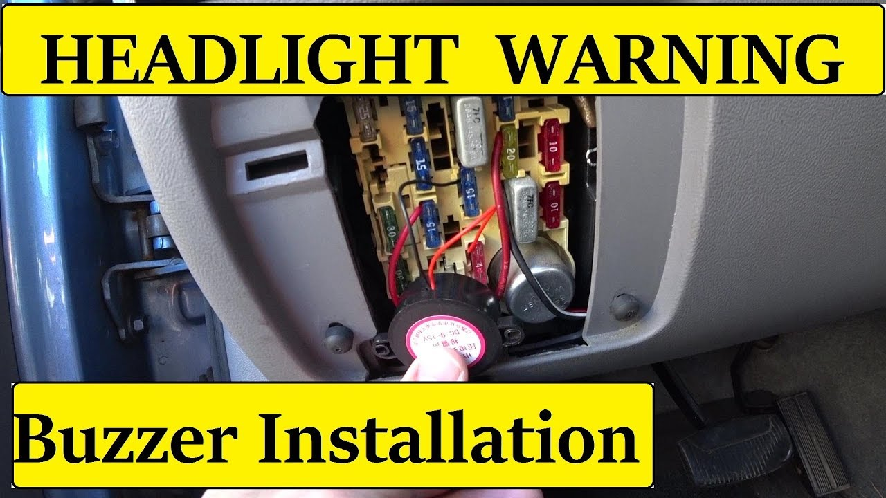 EASY  Headlight reminder buzzer install DIY  YouTube