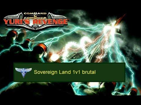 C&C Yuri's Revenge Gameplay: ALLIES Skirmish 11 - Sovereign Land 1v1 brutal