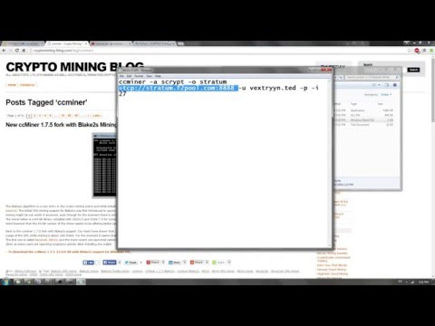 How To Set Up CCminer Again