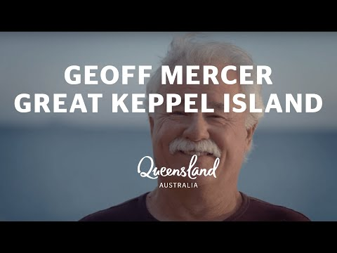 On Great Keppel Island with Geoff Mercer, where life is beautiful one day and perfect the next
