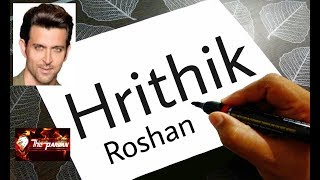 How To Turn Words Hrithik into a Hrithik Roshan - Very Easy ! Hrithik Roshan Drawing for Kids
