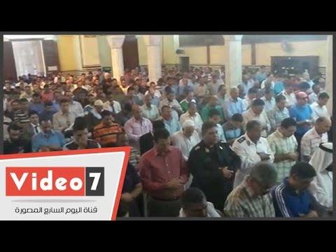 اليوم السابع : بالفيديو.. صلاة الغائب على شهداء أكتوبر والجيش والشرطة بمسجد عمر مكرم