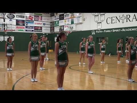 Cheerleaders Homecoming Performance (Billings Central Catholic High School)