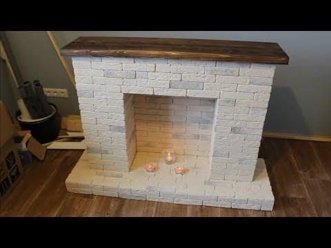 видео: Декоративный фальш-камин своими руками за 1 день. Как сделать декоративный камин самому.