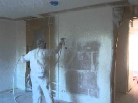 Airless spuiten woonkamer, deel 1 - YouTube