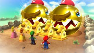 Mario Party 9 MiniGames - Luigi Vs Mario Vs Peach Vs Kamek (Master Cpu)