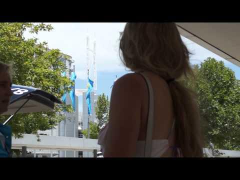 Vika Arrival in Melbourne for the Australian Open