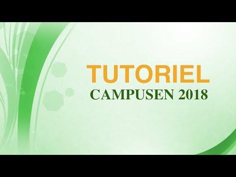 TUTORIEL Campusen 2018