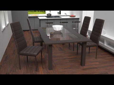 TecTake - Chaises de salle à manger ou de cuisine design, Chaise de Salon, Meuble de salon