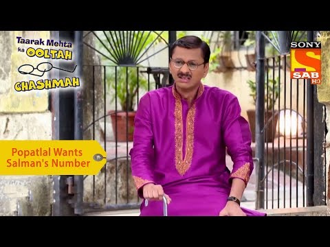 Your Favorite Character | Popatlal Wants Salman Khan's Number | Taarak Mehta Ka Ooltah Chashmah