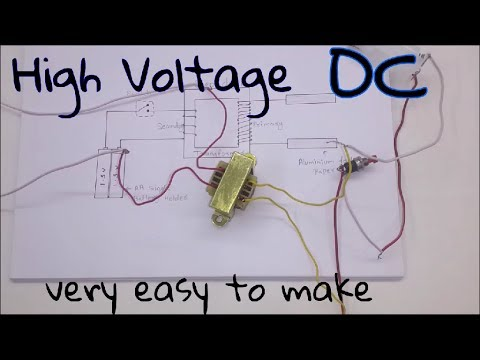 How to Make a High Voltage Generator (In Hindi) Dc High Voltage Transformer Wiring Diagram on