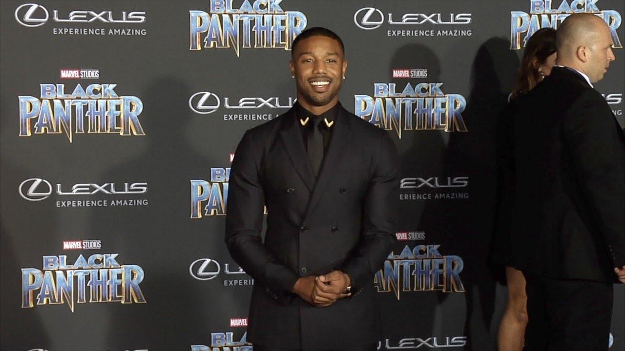 Michael B Jordan Quot Black Panther Quot World Premiere Purple