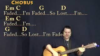 Download Faded (Alan Walker) Guitar Cover Lesson in G with Chords/Lyrics - Munson