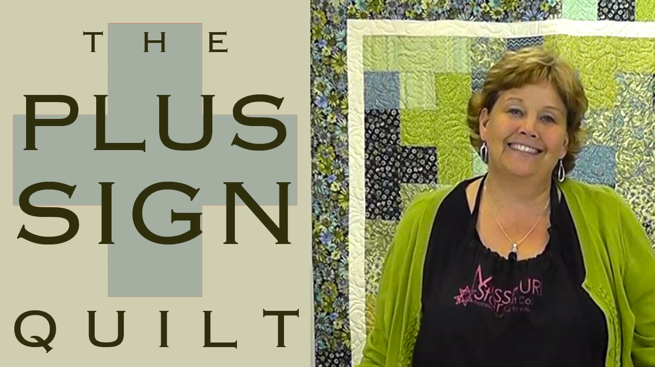 The Plus Sign Quilt Easy Quilting With Charm Packs Youtube