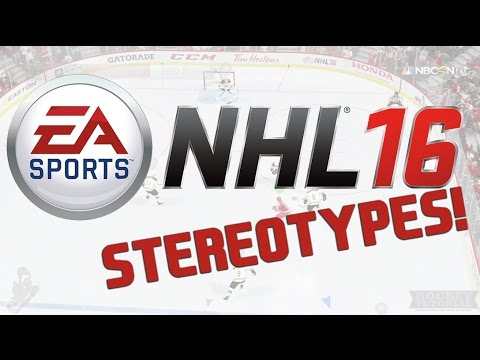EA Sports NHL 16 Video Game Stereotypes