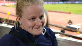 WCH 2015 Beijing - Alexandra Tavernier FRA Hammer Throw Qualification
