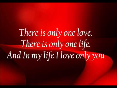 Love quotes   In my life I only love you