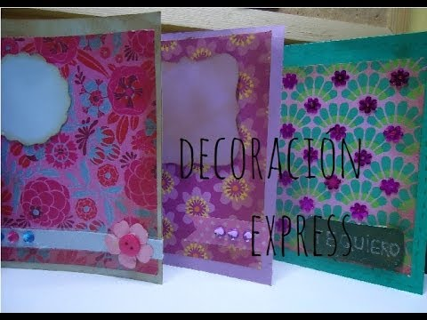 c mo decorar tarjetas manualidad express scrapbook mania
