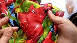Almofada 3D com tecido de chita