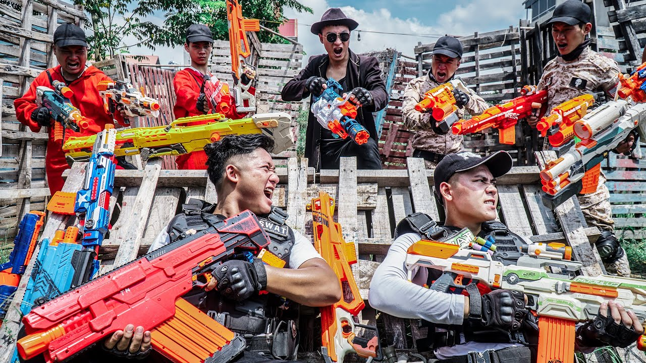 LTT Nerf War : Two Masters SEAL X Warriors Fight Crime Dr Ken Crazy Dangerous Hunting Campaign