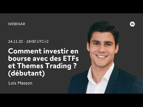 Comment investir en bourse avec des ETFs et Themes Trading? (débutant)