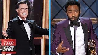 2017 Emmy Highlights: Colbert Musical, Donald Glover Historic Win, Hulu's First Win | THR News