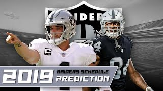 Oakland Raiders 2019 Schedule Prediction