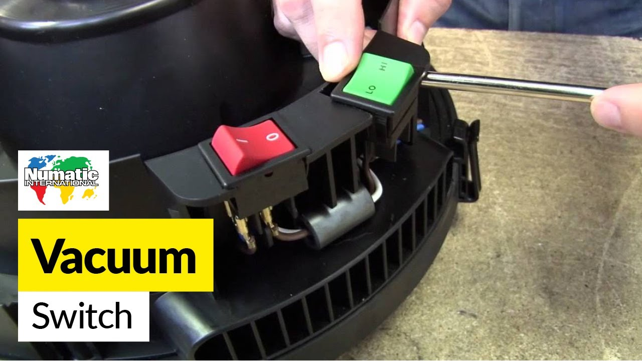 How to replace a switch on a Numatic (Henry) vacuum cleaner  YouTube