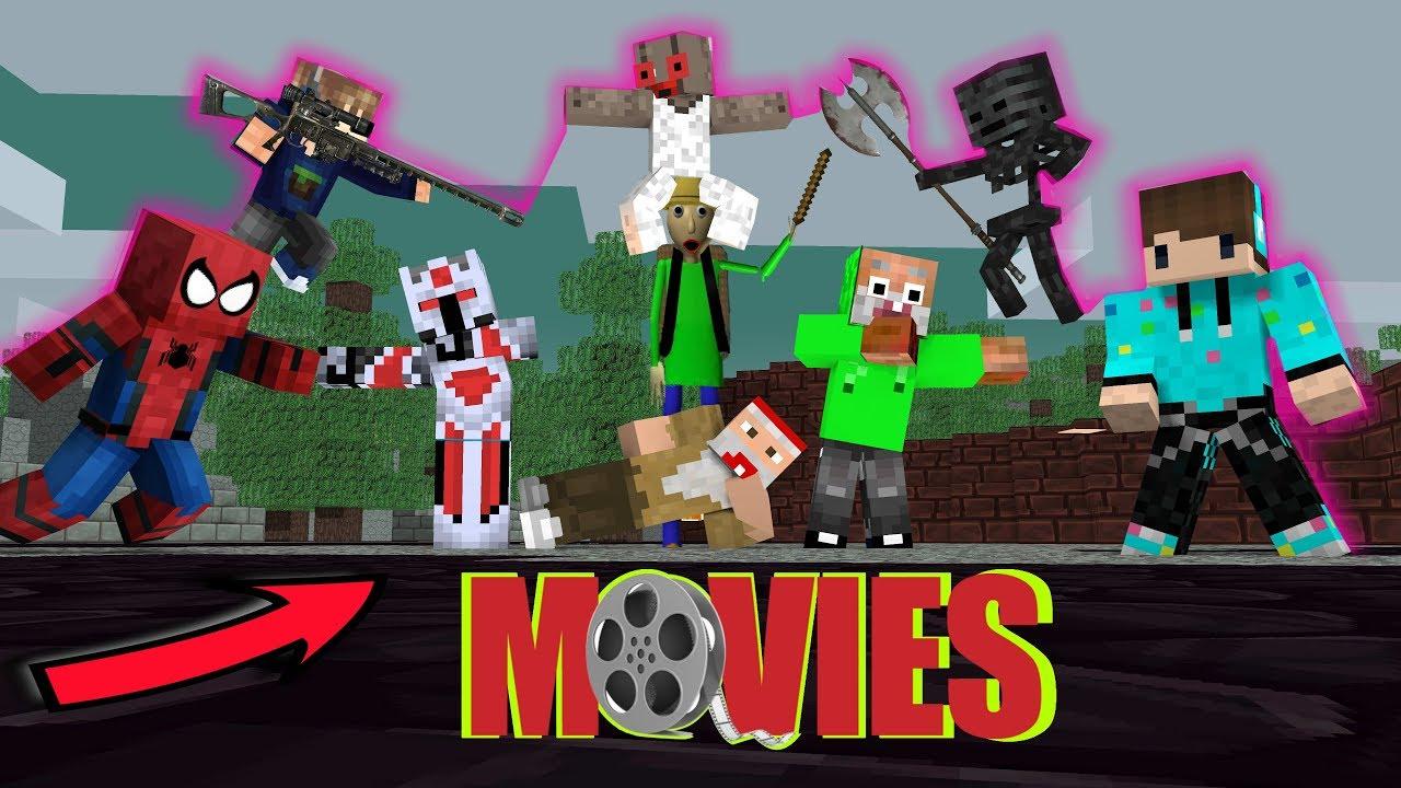 Youtuber Minecraft The Movie 2018 Kocak Habis Minecraft Animation Youtube