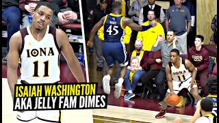 Another solid night for jelly fam isaiah washington 15 pts, 9 reb, 6 ast. ej crawford had 17 reb.. iona lost to quinnipiac 69-68. good game!----------...
