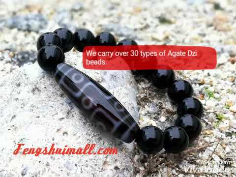 Tibetan Agate Dzi Bead Crystal Bracelets
