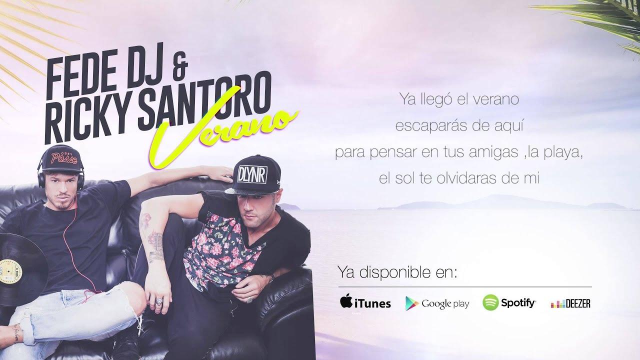 Fede Dj & Ricky Santoro - Verano (Lyric Video)